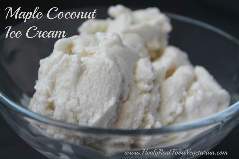 Maple Coconut Dairy-free Ice Cream - Healy Eats Real