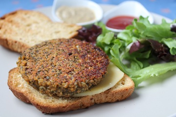 Sprouted Lentil Burger2