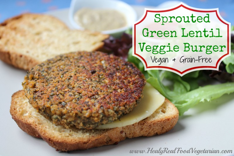 Sprouted Green Lentil Burger (vegan, grain-free) from Gluten-Free ...