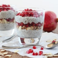 Chia Parfait with Pomegranate + Almond: Guest Post from Downshiftology